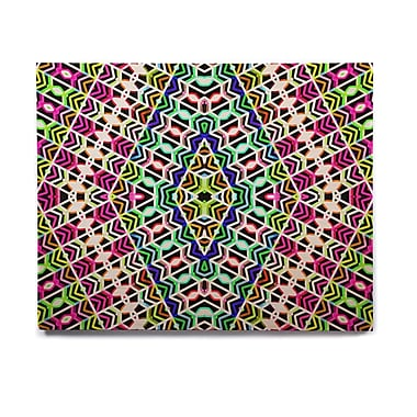 East Urban Home 'Colorful Tribal Pattern' Graphic Art Print on Wood; 11'' H x 14'' W x 1'' D