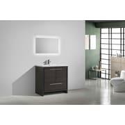 Ivy Bronx Melillo 29.5'' Free Standing Modern Wood Bathroom Vanity; Dary Grey Oak