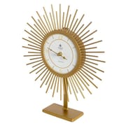Ivy Bronx Gold Tabletop Clock