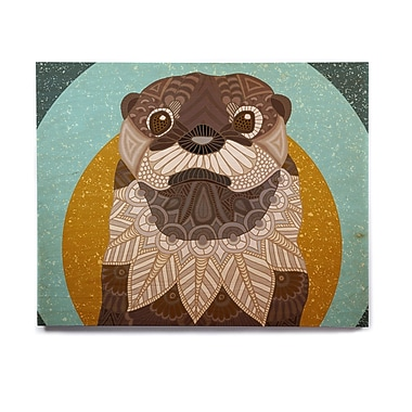 East Urban Home 'Otter in Water' Graphic Art Print on Wood; 16'' H x 20'' W x 1'' D