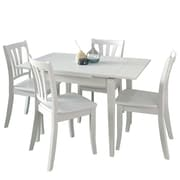 Darby Home Co Wallace 5 Piece Extendable Wood Dining Set; White