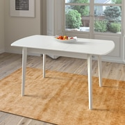 Darby Home Co Wallace Extendable Solid Wood Dining Table; White