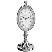 Darby Home Co Polished Nickel Stand Tabletop Clock