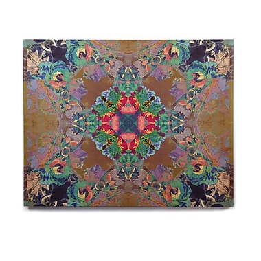 East Urban Home Floral Kaleidoscope 'Flowery' Graphic Art Print on Wood; 16'' H x 20'' W x 1'' D