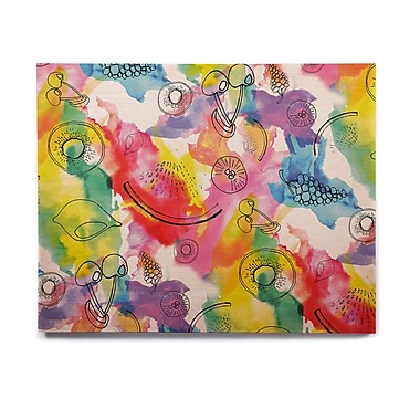 East Urban Home Rainbow 'Fruits' Graphic Art Print on Wood; 8'' H x 10'' W x 1'' D