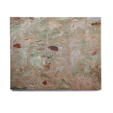 East Urban Home Watercolor 'Nude Marble' Painting Print on Wood; 8'' H x 10'' W x 1'' D