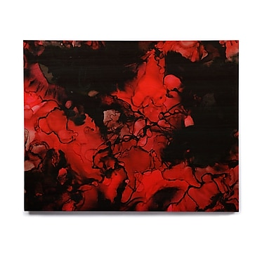 East Urban Home 'Vesuvius' Graphic Art Print on Wood; 8'' H x 10'' W x 1'' D