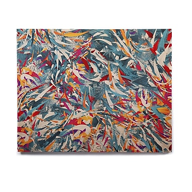 East Urban Home Abstract 'Excited Colours' Graphic Art Print on Wood