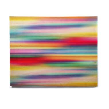 East Urban Home Rainbow Blur 'Blurry Cool' Graphic Art Print on Wood; 8'' H x 10'' W x 1'' D