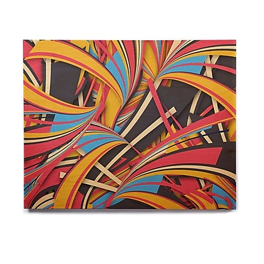 East Urban Home 'Slippery Slope' Graphic Art Print on Wood; 11'' H x 14'' W x 1'' D