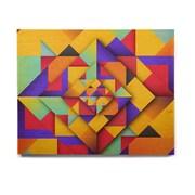 East Urban Home Geometric 'Shapes II' Graphic Art Print on Wood
