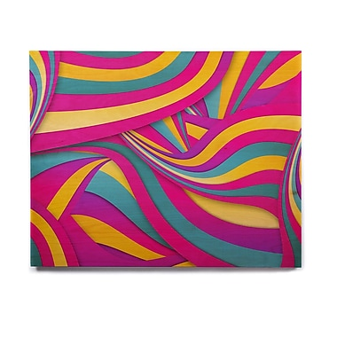East Urban Home 'Swirls Everywhere' Graphic Art Print on Wood; 20'' H x 24'' W x 1'' D