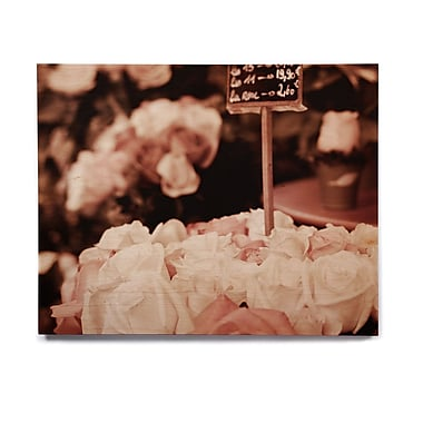 East Urban Home Roses 'Paris Flower Market' Photographic Print on Wood; 20'' H x 24'' W x 1'' D