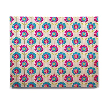 East Urban Home 'Lolly Flowers' Graphic Art Print on Wood; 11'' H x 14'' W x 1'' D