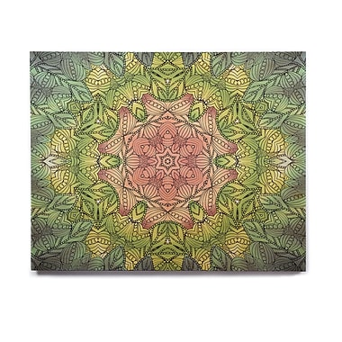 East Urban Home 'Pink Celtic Flower' Graphic Art Print on Wood
