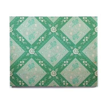East Urban Home Seafoam 'Diamonds Mint' Graphic Art Print on Wood; 20'' H x 24'' W x 1'' D