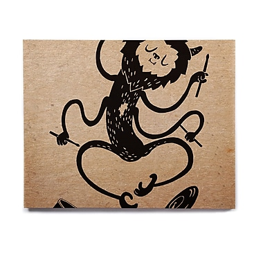 East Urban Home Fantasy 'Music Monster' Graphic Art Print on Wood; 11'' H x 14'' W x 1'' D