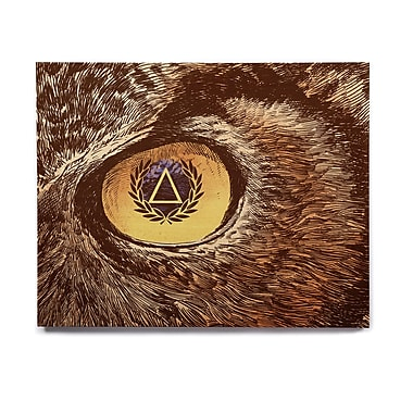East Urban Home Owl 'Sharp Eye' Graphic Art Print on Wood