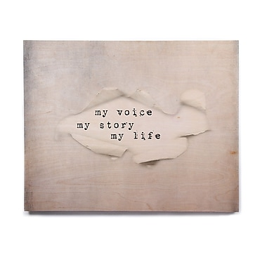 East Urban Home Paper Text 'My Life' Textual Art on Wood; 8'' H x 10'' W x 1'' D