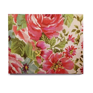 East Urban Home Flowers 'Walk Through The Garden' Graphic Art Print on Wood; 16'' H x 20'' W x 1'' D