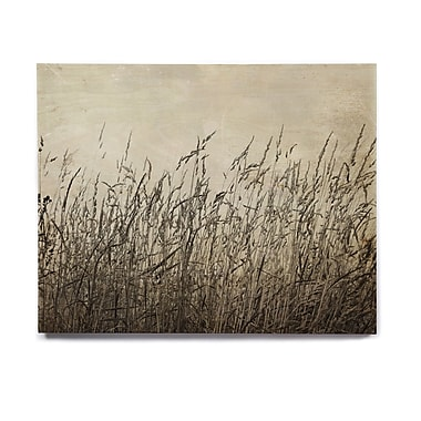East Urban Home 'Summer Grasses' Graphic Art Print on Wood; 8'' H x 10'' W x 1'' D
