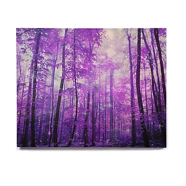 East Urban Home Forest 'Magic Woods' Graphic Art Print on Wood; 8'' H x 10'' W x 1'' D