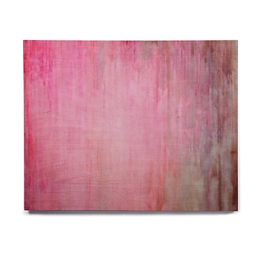 East Urban Home Blush 'Color Wash Pink' Painting Print on Wood; 20'' H x 24'' W x 1'' D