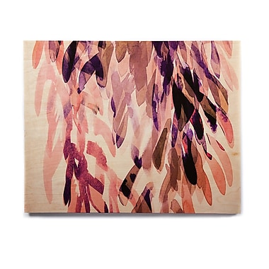 East Urban Home 'Abstract Leaves I' Graphic Art Print on Wood; 8'' H x 10'' W x 1'' D