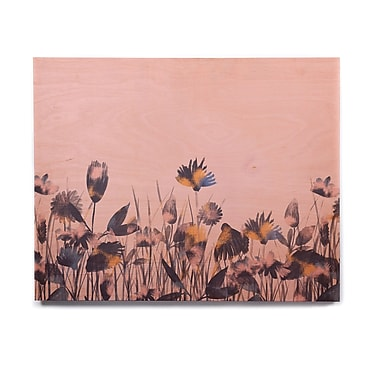 East Urban Home Illustration 'Crazy Flowers' Graphic Art Print on Wood; 16'' H x 20'' W x 1'' D