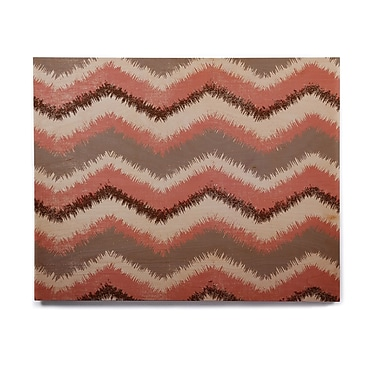 East Urban Home 'Fuzzy Chevron' Graphic Art Print on Wood; 20'' H x 24'' W x 1'' D