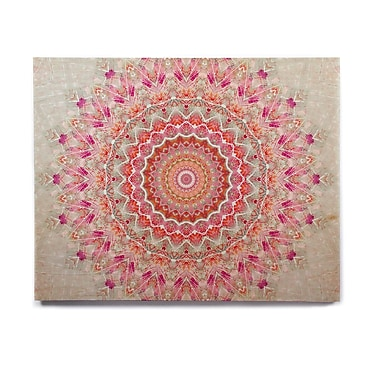 East Urban Home Circle 'Summer Lace III' Graphic Art Print on Wood