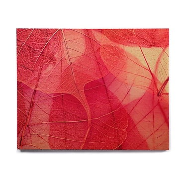 East Urban Home 'Delicate Leaves' Graphic Art Print on Wood; 8'' H x 10'' W x 1'' D