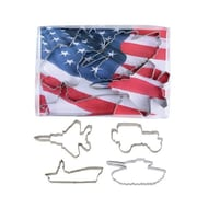 R & M International Corp. Military 4 Piece Vehicle Cookie Cutter Set
