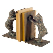 Red Barrel Studio Green/ Brown Cast Iron Bookends (Set of 2)