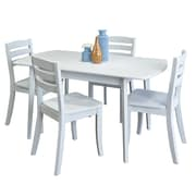 Darby Home Co Wallace 5 Piece Wood Dining Set; White