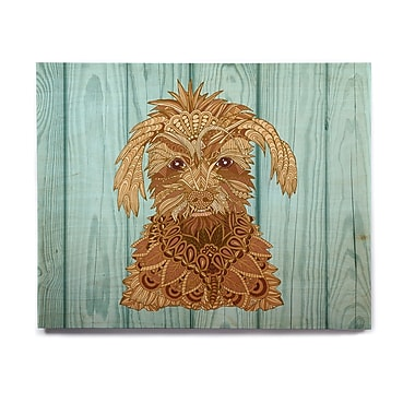 East Urban Home Dog 'Gatsby the Great' Graphic Art Print on Wood; 8'' H x 10'' W x 1'' D