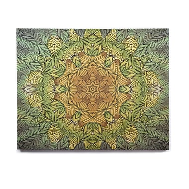 East Urban Home Geometric ' Celtic Golden Flower' Graphic Art Print on Wood; 8'' H x 10'' W x 1'' D
