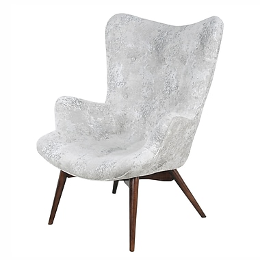 Corrigan Studio Alingtons Arm Chair; Crackle Hematite