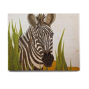 East Urban Home 'Zebra' Graphic Art Print on Wood; 11'' H x 14'' W x 1'' D