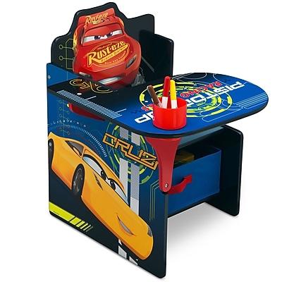 Delta Children Disney/Pixar Cars Kids Chair Desk w/ Storage Compartment WYF078281095076