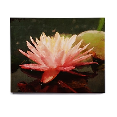 East Urban Home Floral 'Painted Water Lily' Graphic Art Print on Wood; 20'' H x 24'' W x 1'' D