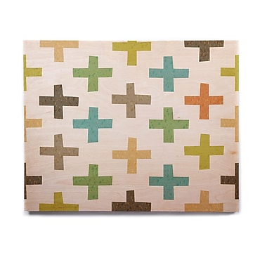 East Urban Home 'Hipster Crosses' Graphic Art Print on Wood; 8'' H x 10'' W x 1'' D