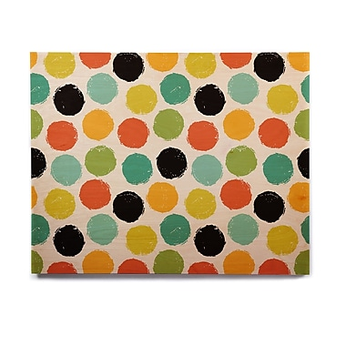 East Urban Home 'Retro Dots Repeat' Graphic Art Print on Wood; 16'' H x 20'' W x 1'' D
