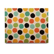 East Urban Home 'Retro Dots Repeat' Graphic Art Print on Wood