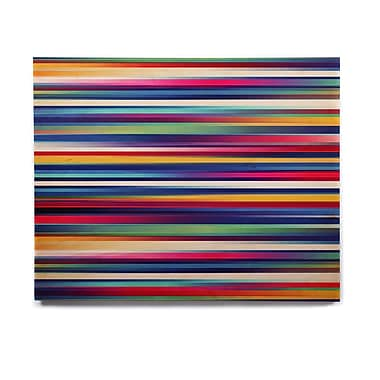 East Urban Home 'Blurry Lines' Graphic Art Print on Wood; 11'' H x 14'' W x 1'' D