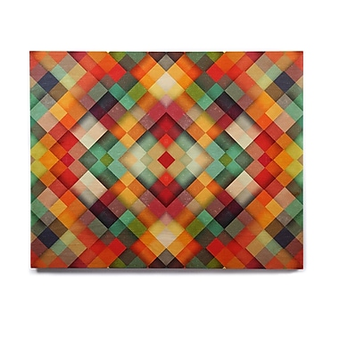 East Urban Home Geometric Abstract 'Time Between' Graphic Art Print on Wood; 16'' H x 20'' W x 1'' D