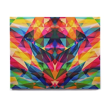 East Urban Home Rainbow Geometric 'Day We Met' Graphic Art Print on Wood; 8'' H x 10'' W x 1'' D