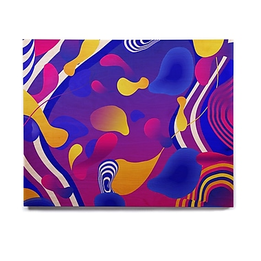 East Urban Home 'Bubbles' Graphic Art Print on Wood; 16'' H x 20'' W x 1'' D