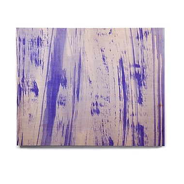 East Urban Home Watercolor 'Indigo Stripes' Painting Print on Wood