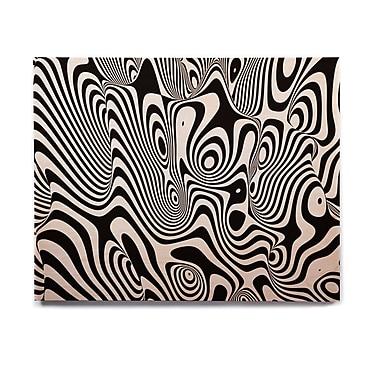 East Urban Home 'Trippy' Graphic Art Print on Wood; 16'' H x 20'' W x 1'' D